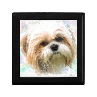 Shih Tzu Dog Water Color Art Painting Gift Box