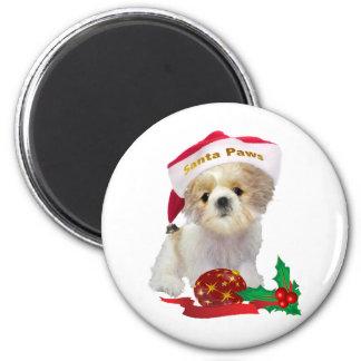 Shih Tzu Doll Santa Paw Gifts Magnet