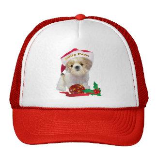Shih Tzu Doll Santa Paws apparel Trucker Hats