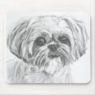 Shih Tzu Drawing Mousepads