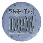 Shih Tzu DUDE Party Plates