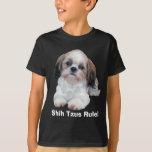 Shih Tzu embroma la camiseta