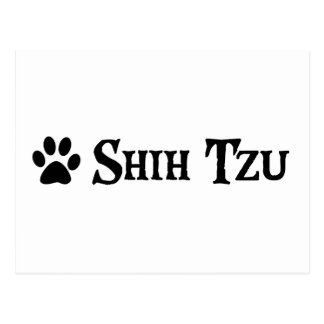 Shih Tzu estilo del pirata con el pawprint Tarjeta Postal