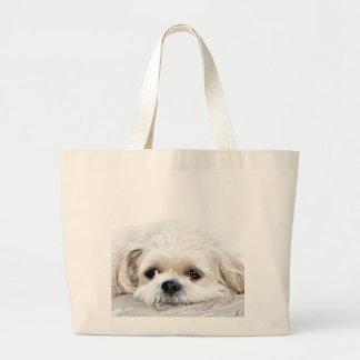 Shih Tzu face tote Canvas Bag