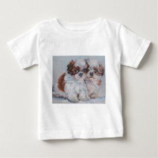 shih tzu fine art dog painting t-shirt