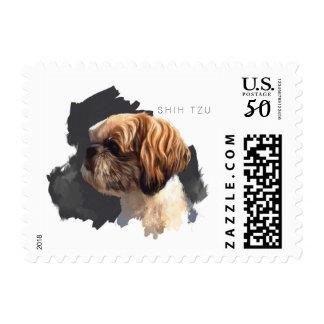 Shih Tzu Fine Art Stamp