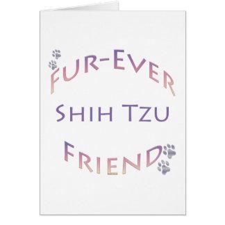 Shih Tzu Furever Friend Greeting Card
