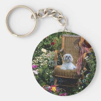 Shih Tzu Garden Keychain