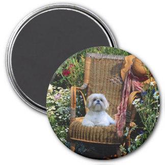 Shih Tzu Garden Magnet