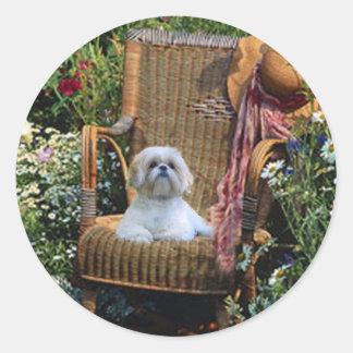 Shih Tzu Garden Sticker