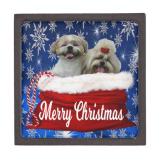 Shih tzu Gift Box Christmas