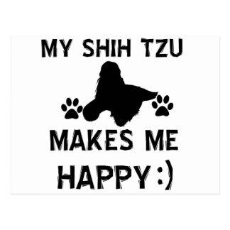 shih tzu gift items postcard