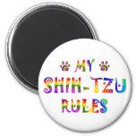 Shih-Tzu gobierna la diversión Imán De Frigorifico