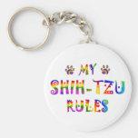 Shih-Tzu gobierna la diversión Llavero Personalizado