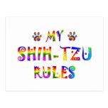 Shih-Tzu gobierna la diversión Tarjetas Postales