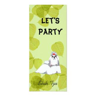 Shih Tzu ~ Green Leaves Design Card