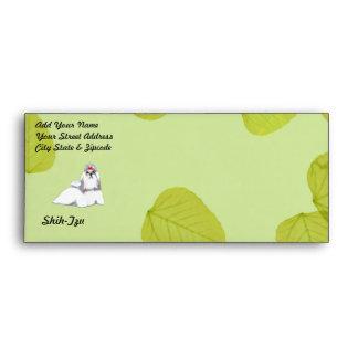 Shih Tzu ~ Green Leaves Design Envelope