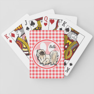 Shih Tzu; Guinga roja y blanca Baraja De Póquer