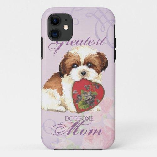 Shih Tzu Heart Mom Phone Case