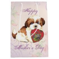Shih Tzu Heart Mom Medium Gift Bag