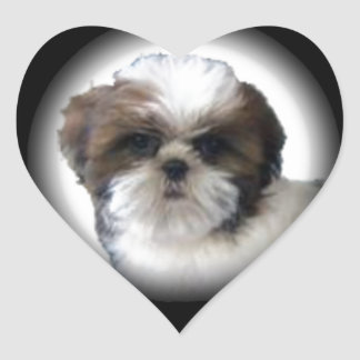 Shih-Tzu Heart Sticker