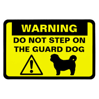 Shih Tzu Humorous Guard Dog Warning Magnet
