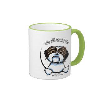 Shih Tzu Its All About Me Ringer Coffee Mug
