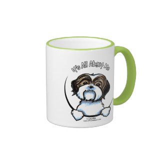 Shih Tzu Its All About Me Ringer Coffee Mug
