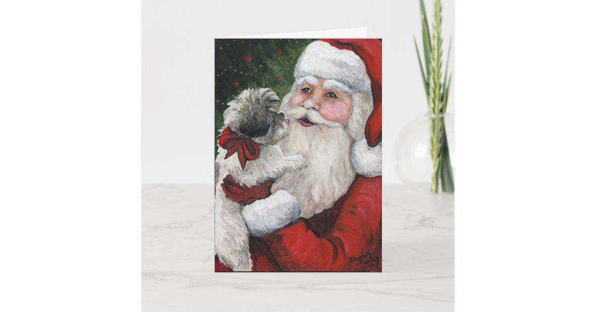 Shih tzu Kisses for Santa\