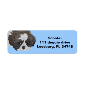 Shih Tzu Label