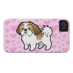 Case-Mate iPhone 4 Barely There Universal Case with Shih Tzu Phone Cases design