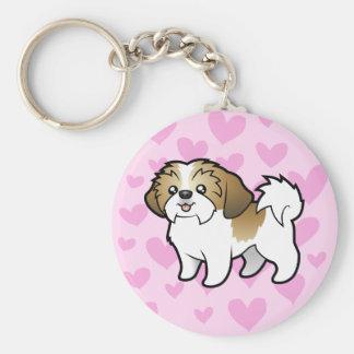 Shih Tzu Love puppy cut Keychains