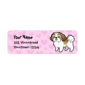 Shih Tzu Love (puppy cut) Custom Return Address Label