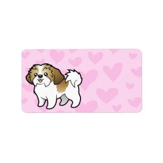 Shih Tzu Love (puppy cut) Personalized Address Label