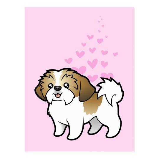 Shih Tzu Love (puppy cut) Postcard
