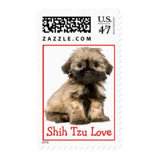 Shih Tzu Love Puppy Dog Postage Stamp