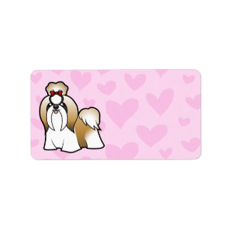 Shih Tzu Love (show cut) Label