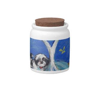Shih Tzu Love Spritual Tree Candy Jars