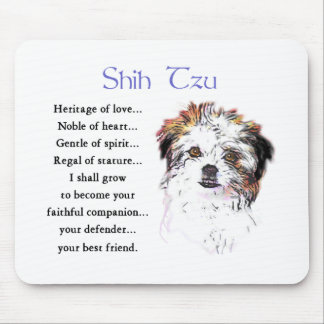 Shih Tzu Lovers Gifts Mouse Pad