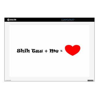 Shih Tzu + Me = Love Laptop Skin