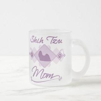 Shih Tzu Mom 10 Oz Frosted Glass Coffee Mug
