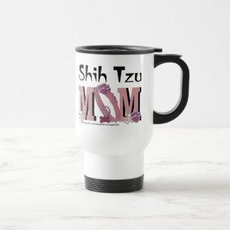 Shih Tzu MOM 15 Oz Stainless Steel Travel Mug