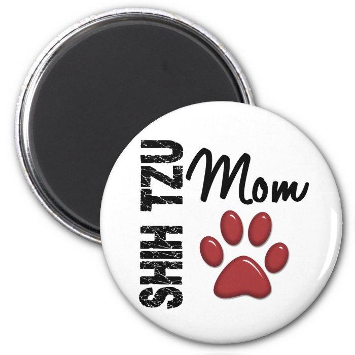 Shih Tzu Mom 2 2 Inch Round Magnet