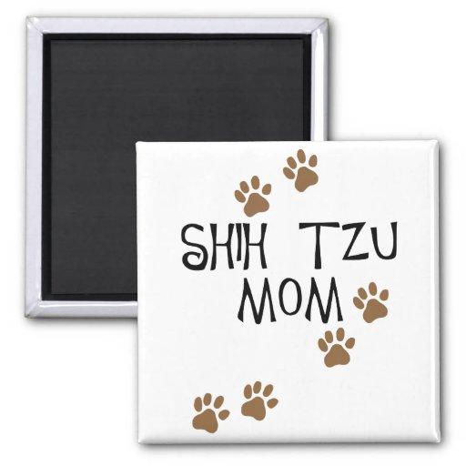Shih Tzu Mom 2 Inch Square Magnet