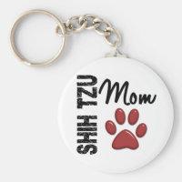 Shih Tzu Mom 2 Keychain
