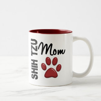 Shih Tzu Mom 2 Two-Tone Coffee Mug