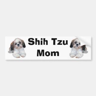 Shih Tzu Mom Bumper Sticker Car Bumper Sticker