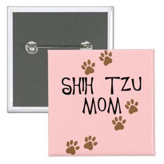 Shih Tzu Mom Button