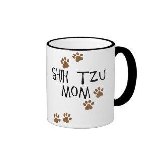 Shih Tzu Mom Ringer Coffee Mug