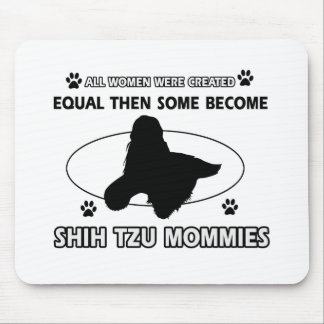 Shih Tzu Mommy Designs Mouse Pad